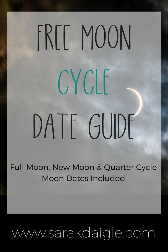 Moon Cycles Date Guide