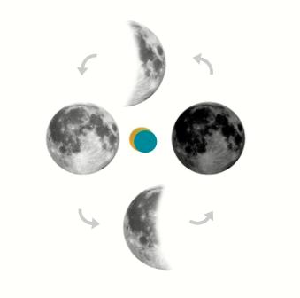Moon Cycles - new moon, full moon