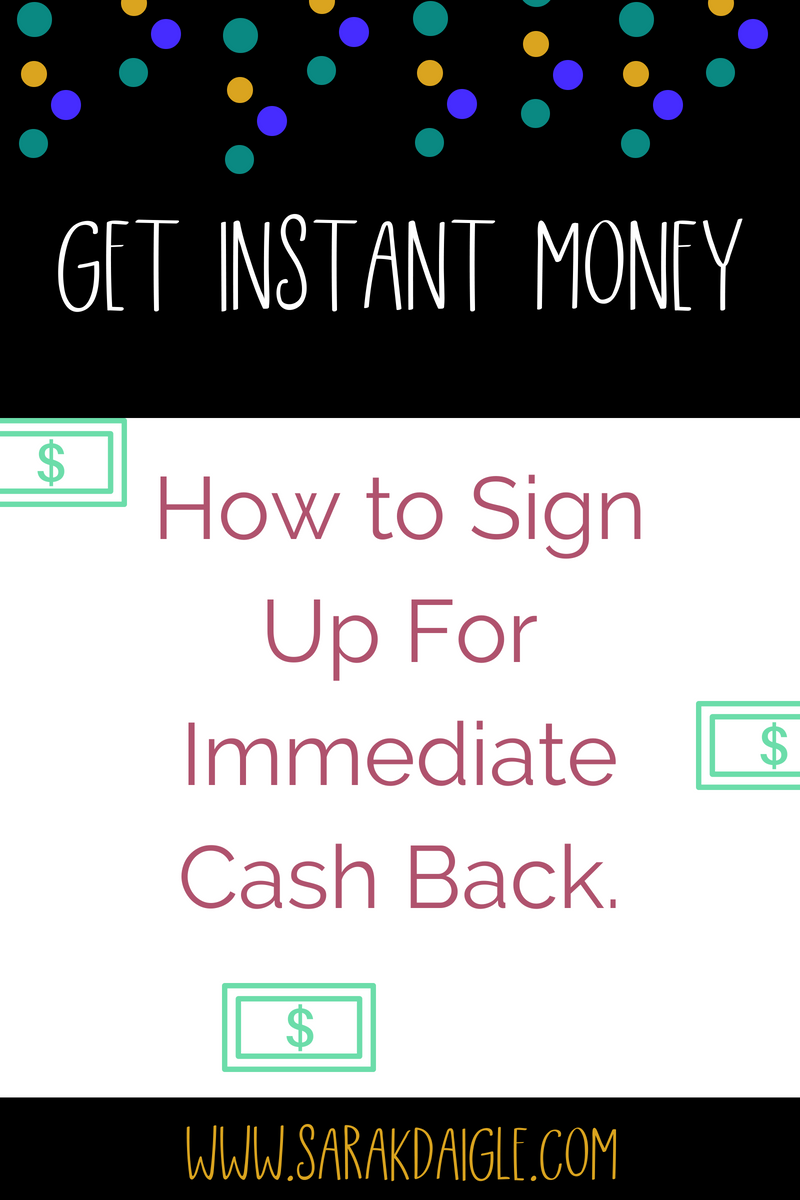 You Can Earn Instant Cash Back Now!