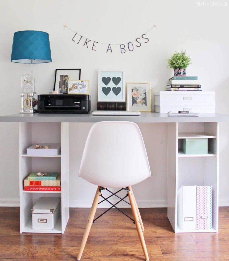 pretty providence desk-ikea-craft-room