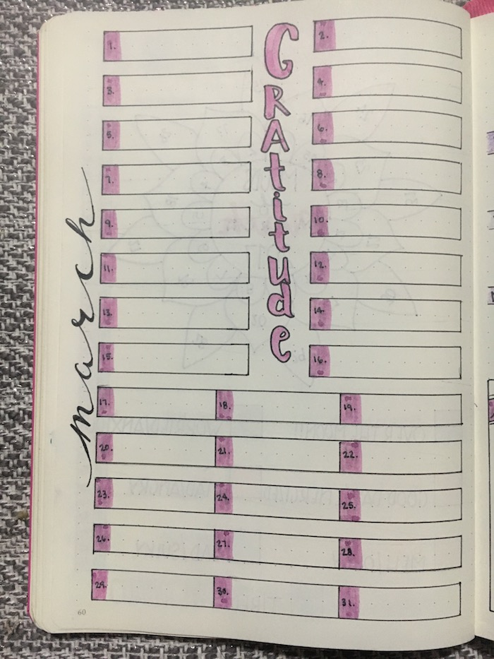Gratitude Tracker Bullet Journal