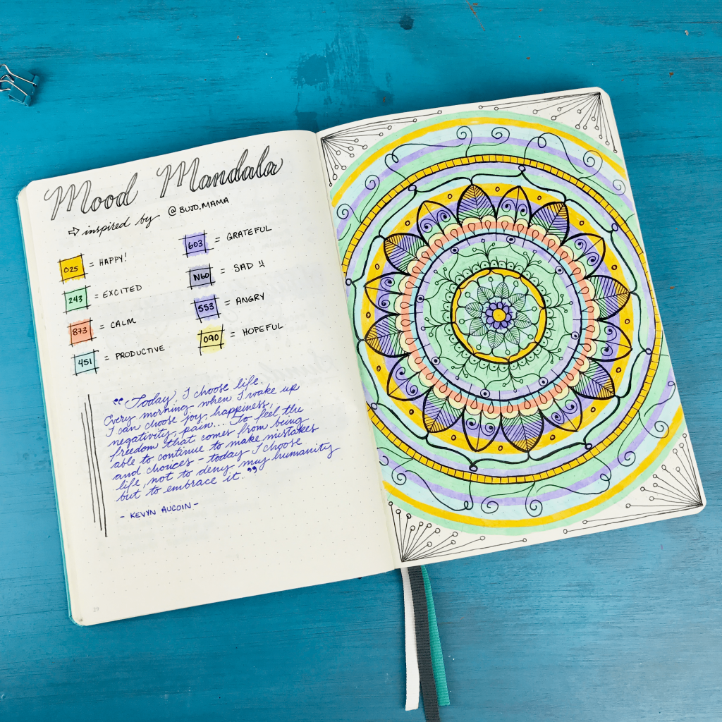 boho berry mood mandala