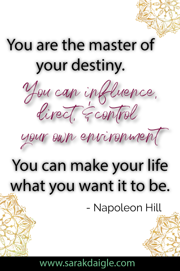 You are The Master of Your Destiny - Success Quotes NLP Mindset Coaching