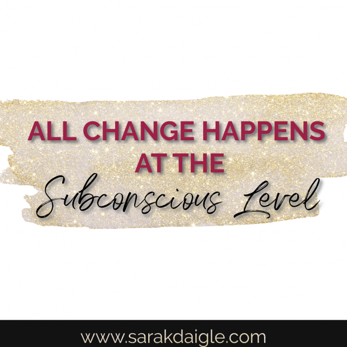 Make changes with your subconscious mind